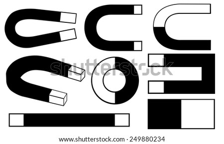 set of different magnets - stock vector