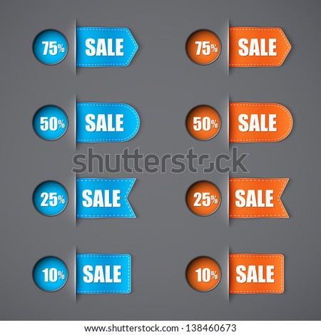 set of different sale labels eps10