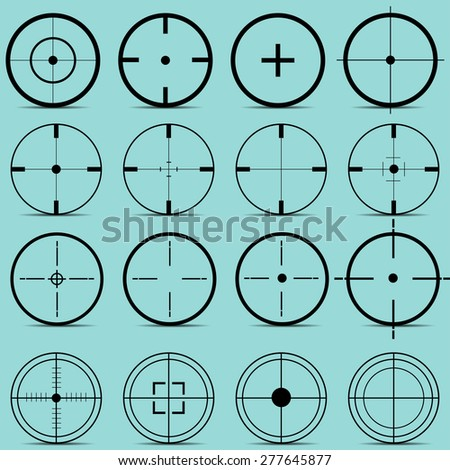Set of different sights on a turquoise background vector