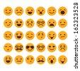 Set of different smileys vector - stock vector