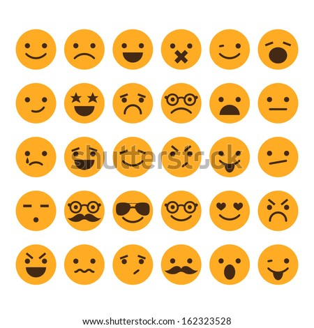 Set of different smileys vector - stock vector