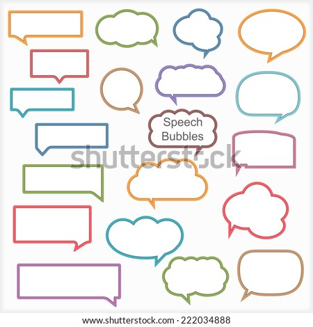 Set of different speech bubbles, vector eps10 illustration - stock vector