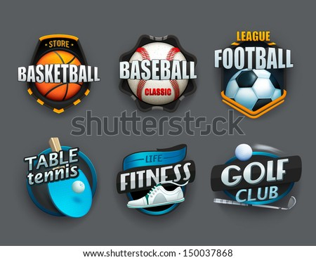 Set of different sport icons. Vector - stock vector