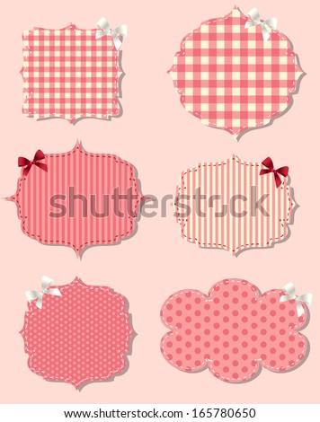 set of different Valentine`s dey labels,  design elements - stock vector
