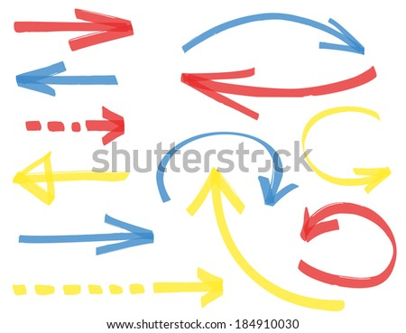 Set of different vector arrows - stock vector