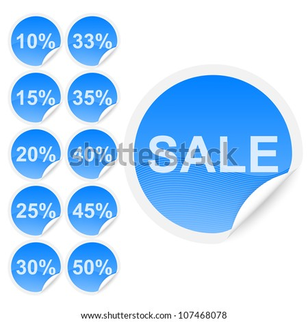 Set of discount labels. Part one. - stock vector
