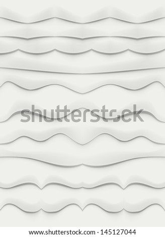 Set Of 10 Dividers. Vector Illustration - stock vector