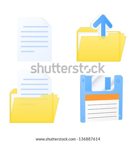 Set of document icons. Vector illustration. - stock vector