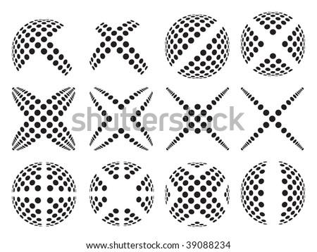 Set of dots - stock vector