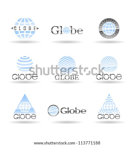 Set of Earth globe icons. Vol 1. - stock vector