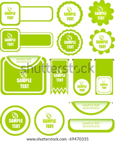 set of eco elements - stock vector