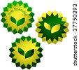 Set of eco labels. Vector set. - stock vector
