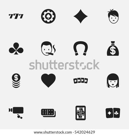 Set 16 Editable Excitement Icons Includes Stock Photo Photo Vector
