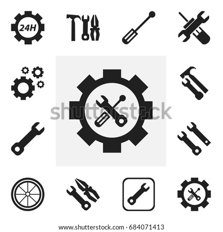 Set 12 Editable Mechanic Icons Includes 684071413 on best mobile app design
