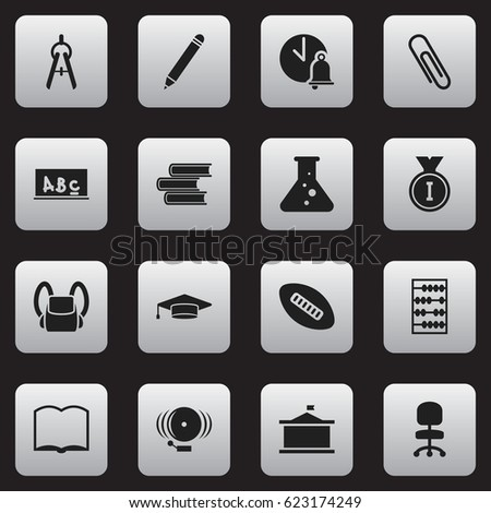 Set 16 Editable Science Icons Includes Stock Vector 623174249