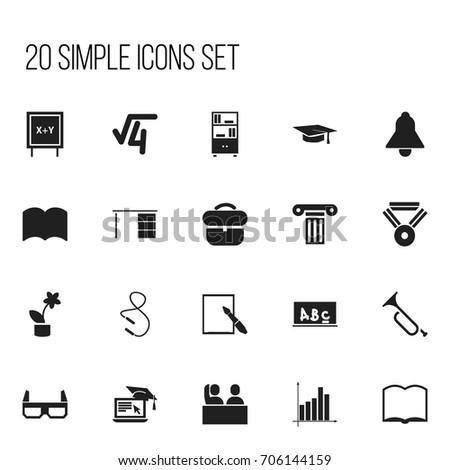 Set 20 Editable Teach Icons Includes Stock Vector 706144159