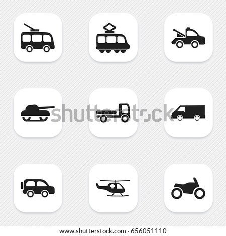 Vector Illustration Transport Travel Icons Vehicle 263323199 on freight car art