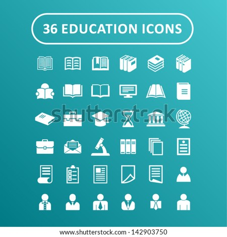 Set of education icons - stock vector