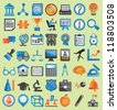 Set of education icons for design - vector icons - stock photo