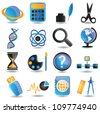 Set of education icons - part 2 - vector icons - stock vector