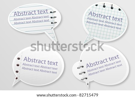 Set of education speech bubbles - stock vector