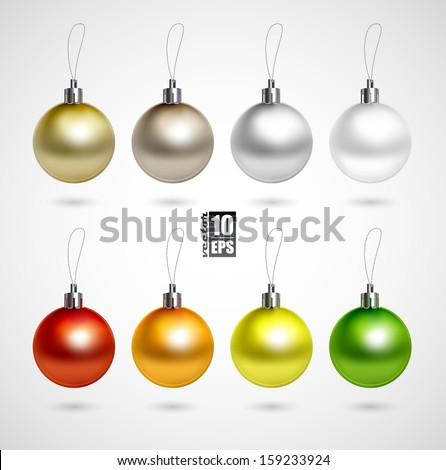 Set of eight evening balls.colorful symbol - stock vector