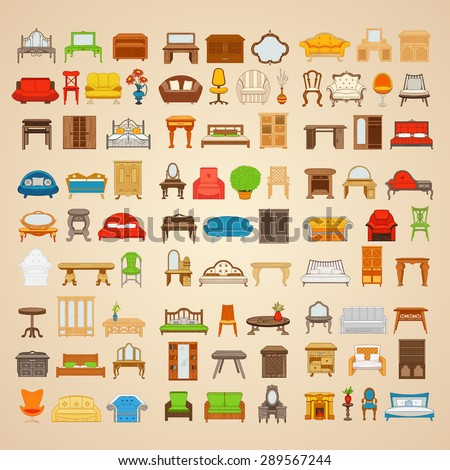 Furniture Icons Stock Images Royalty Free Images Vectors Shutterstock