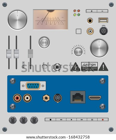 Set of Electronic Components - stock vector