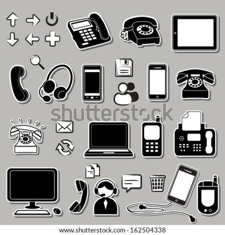 Set of electronic symbols - stock vector