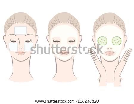 Facial mask pads
