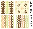 Set of elegant retro seamless patterns - stock vector