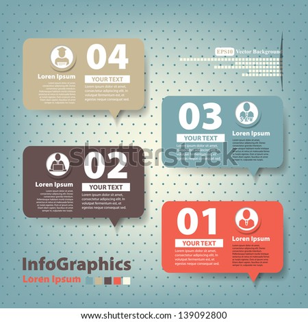 Set of elements for infographics in the form speech baloons - stock vector