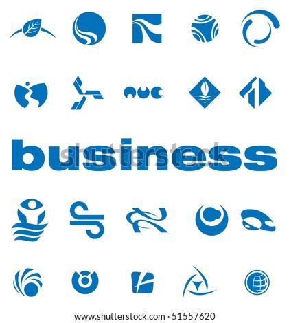 Set of elements for logo design vector - stock vector