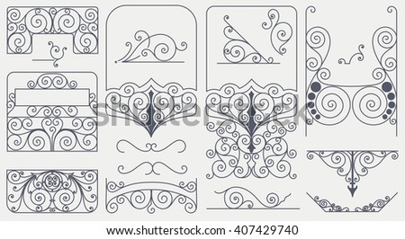 Set of elements. Vector and layered - stock vector