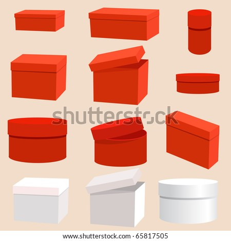 set of empty boxes - stock vector