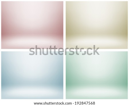Set of empty light interiors for your creative project. Vector illustration. Used gradient mesh and transparency layers - stock vector