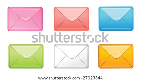 Set of envelopes - stock vector