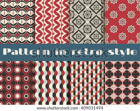 Set of ethnic seamless patterns. The pattern for wallpaper, tiles, fabrics and designs. Vector. - stock vector