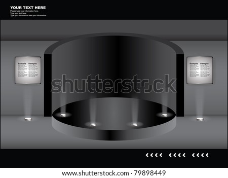 set of event display collection - stock vector