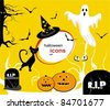 set of fairy halloween icons. vector templates. - stock vector
