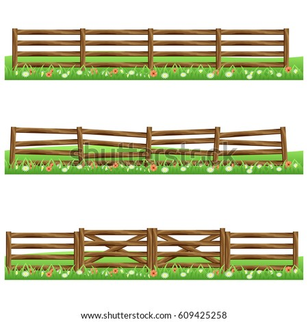 Farm Fence Clipart game farm banque d'images, d'images et d'images vectorielles