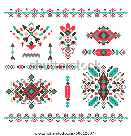 Tribal Native American Border Clipart