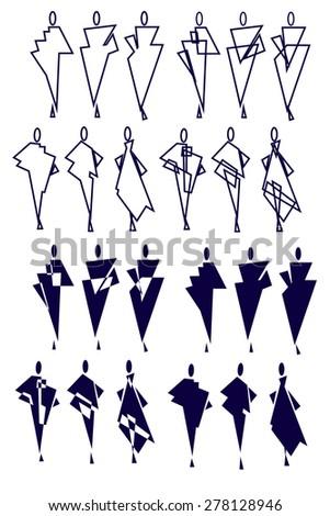 Set Fashion Symbols Vector Illustration Stock Vector Royalty Free