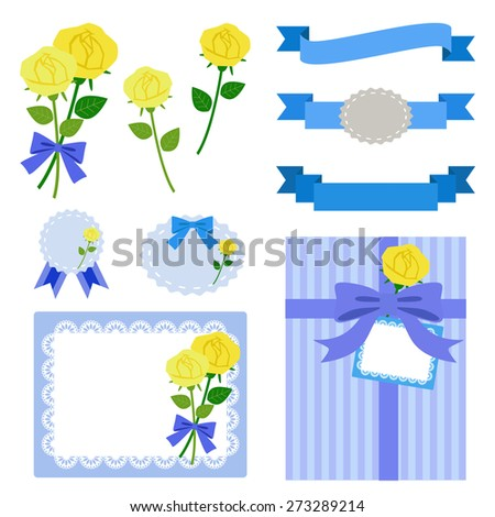 Set of Father's day elements / vector eps10 illustration - stock vector