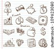 Set of finance & banking icons-Doodles - stock vector