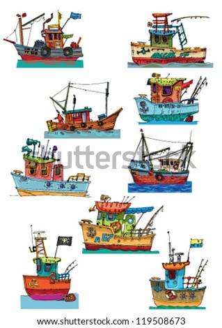 Fishing Boat Cartoon Cartoon Boat St...