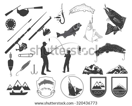 Fishing Rod And Reel Silhouette
