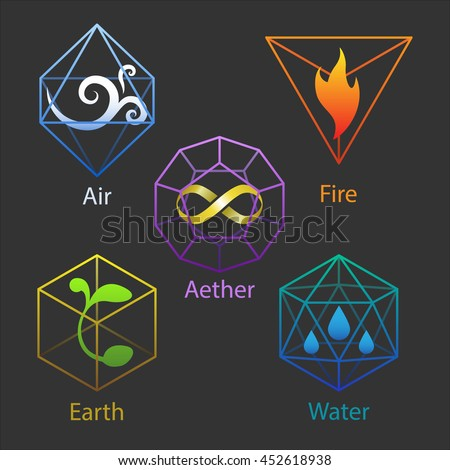 Group Of Earth Water Fire