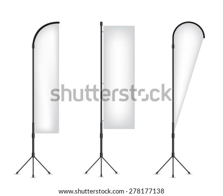 Set of  flag banner stand