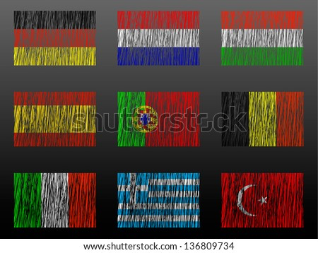 set of flags of the world. vector - stock vector